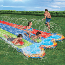Load image into Gallery viewer, Banzai Triple Racer Water Slip And Slide w/ 3 Bodyboards - Millennial Sales