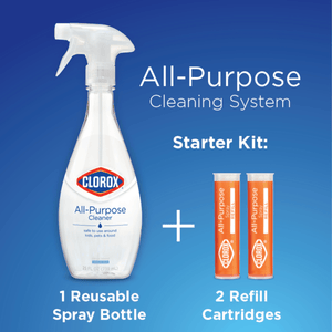 Clorox All-Purpose Cleaning Starter Kit, Citrus Scent, 50 oz Reusable Bottle - Millennial Sales