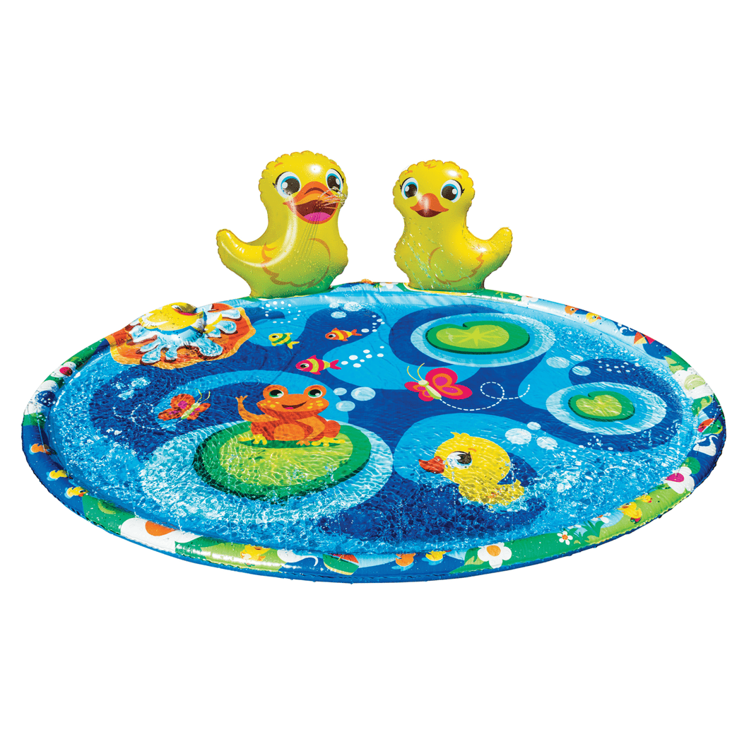Banzai Jr. - Ducky Pond Splash Mat Kiddie Water Park Pool - Millennial Sales