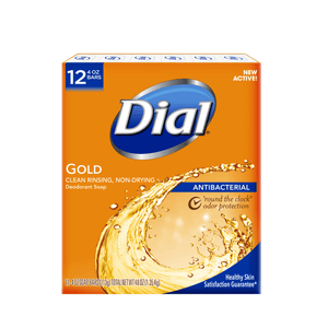 Dial Antibacterial Deodorant Bar Soap, Gold, 4 Ounce, 12 Bars - Millennial Sales