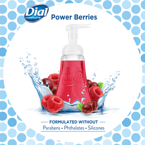 Dial Complete Antibacterial Liquid Foam Hand Soap Wash, Power Berries , 7.5 Ounce - Millennial Sales