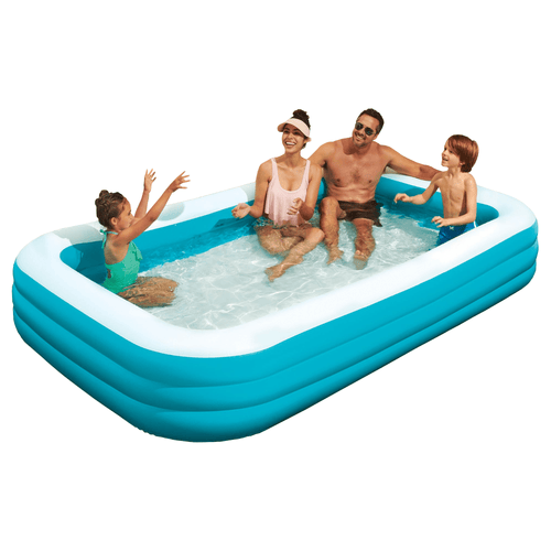 Play Day Deluxe Family Swimming Pool 10' Foot Inflatable Air Outdoor Water Pools - Millennial Sales