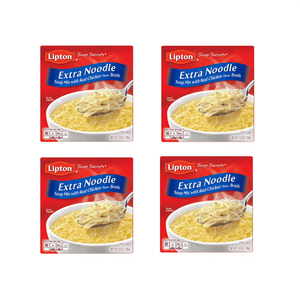 Lipton Extra Noodle Pasta Soup Secrets Real Chicken Broth 4 Boxes 8 Packs - Millennial Sales