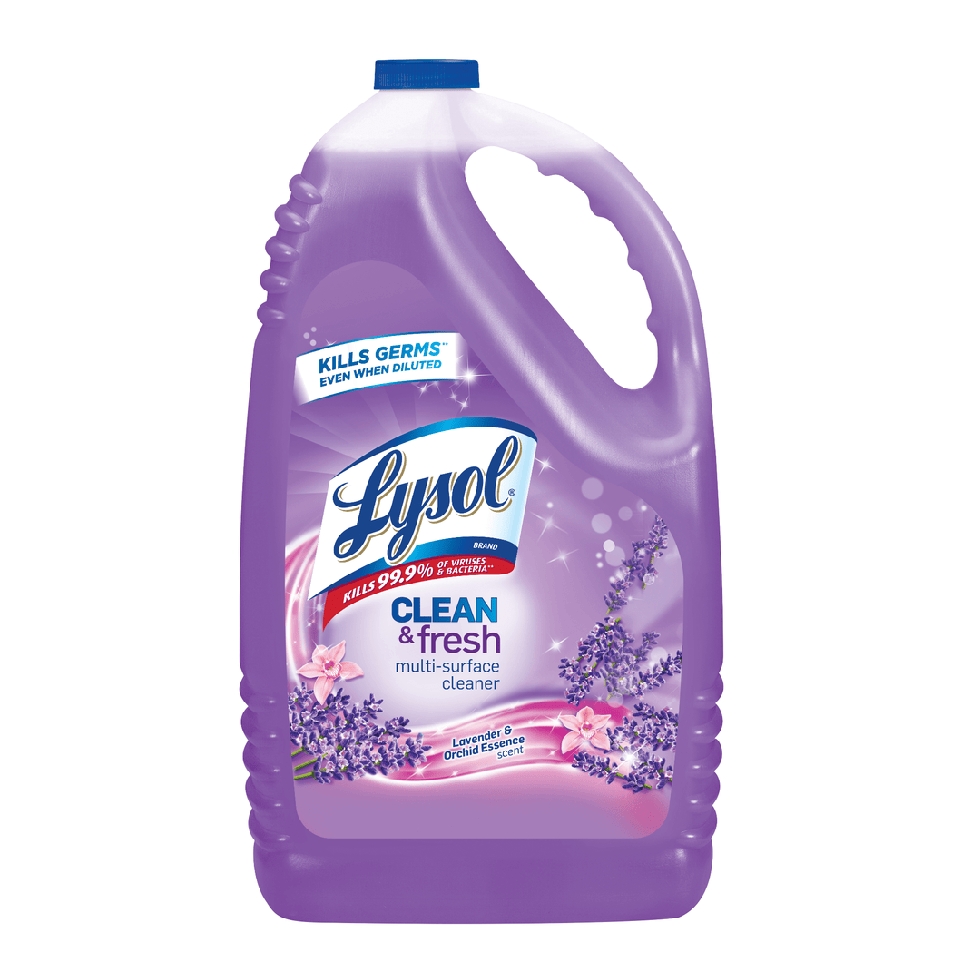 LYSOL 144 oz Dilutable Clean & Fresh Multi-Purpose Cleaner Disinfectant Lavender Orchid - Millennial Sales