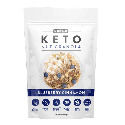 Low Karb Keto Nut Granola Blueberry Cinnamon GMO Gluten Free Low Carb Snacks / 22 ounce - Millennial Sales