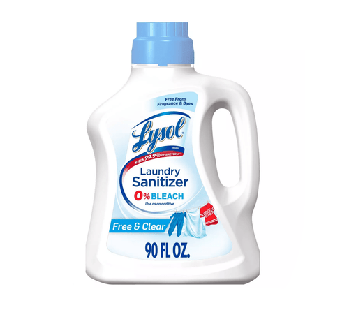 Lysol Laundry Detergent Sanitizer Free & Clear Disinfects Kills Bacteria 90 fl oz - Millennial Sales