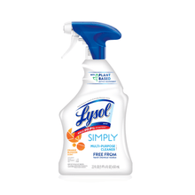 Load image into Gallery viewer, Lysol Simply Multi-purpose Cleaner Spray 22oz Plant Based, Orange Blossom Kills 99% of Bacteria - Millennial Sales