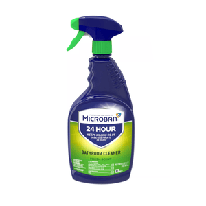 Microban 24 Hour Bathroom Cleaner and Sanitizing Spray - Fresh Scent - 32 fl oz - Millennial Sales