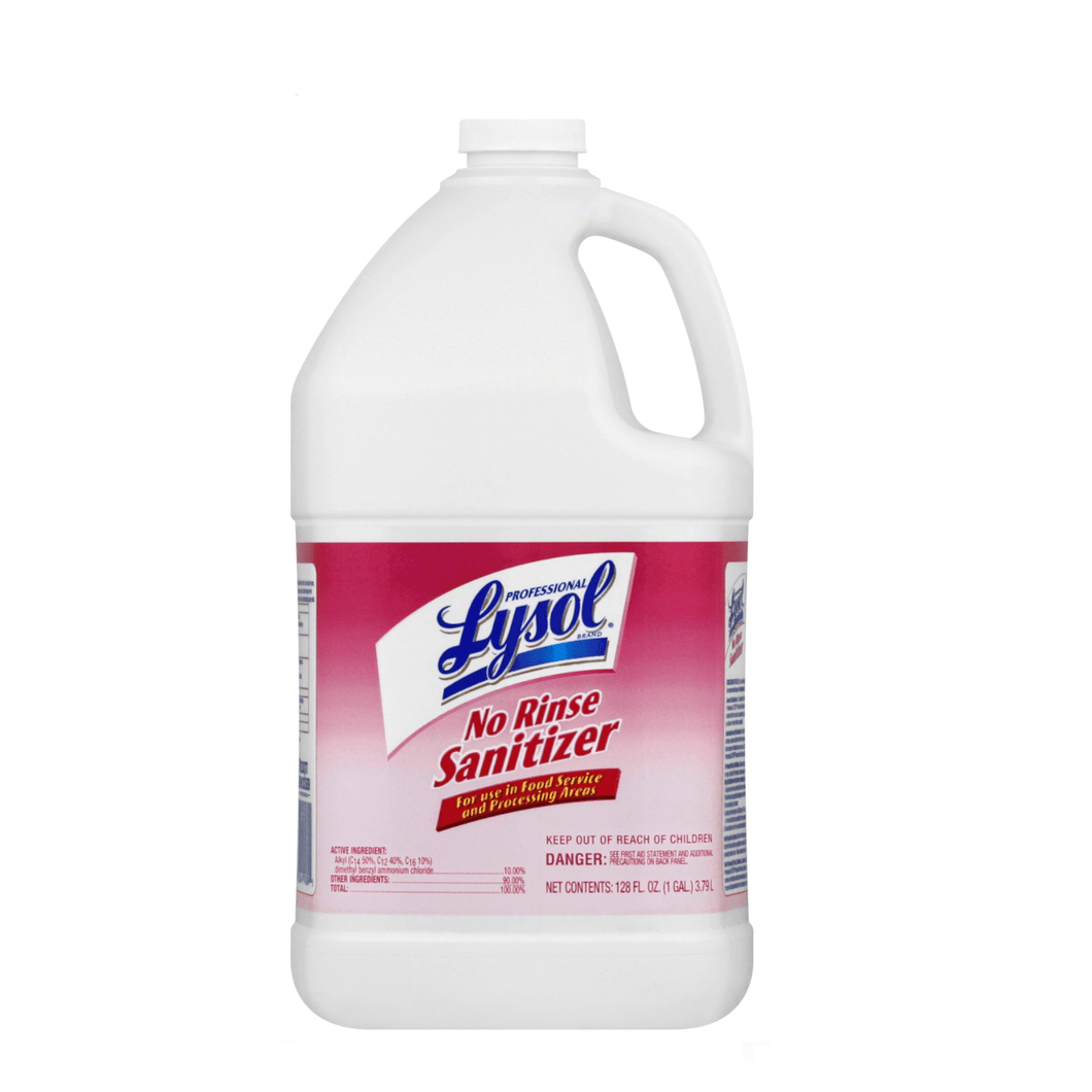 Professional Lysol No Rinse Sanitizer, Disinfectant High Grade Food Service Cleaner, 128oz - Millennial Sales