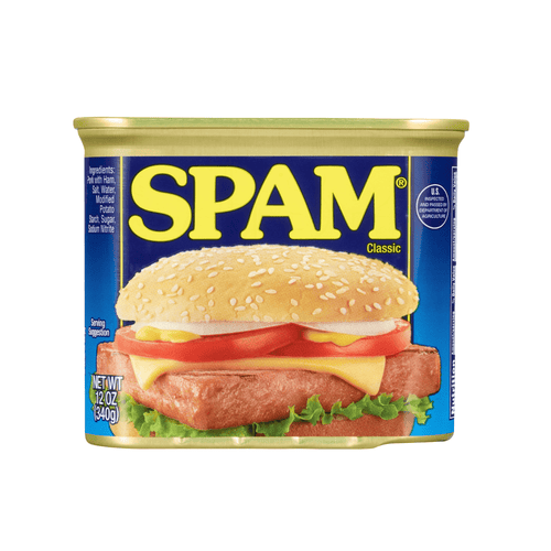 SPAM Canned Food Classic Luncheon Cans, 12 Ounce Can - Millennial Sales