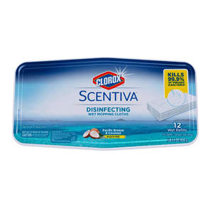 Clorox Scentiva DMC Disinfecting Wet Mopping Cloth Wipes Pacific Breeze Coconut - 12ct - Millennial Sales