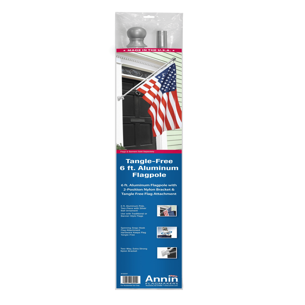 Annin Tangle Free 6' Foot Aluminum Flagpole Kit - Millennial Sales