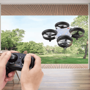 Voyage Aeronautics Micro Drone with Remote Titanium Gray - 2.4 GHz RC Drone Compatible - Millennial Sales