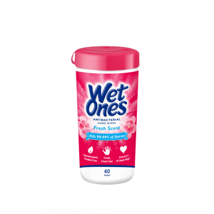 Wet Ones Antibacterial Hand Wipes Canister, Fresh Scent, 40 Ct - Millennial Sales