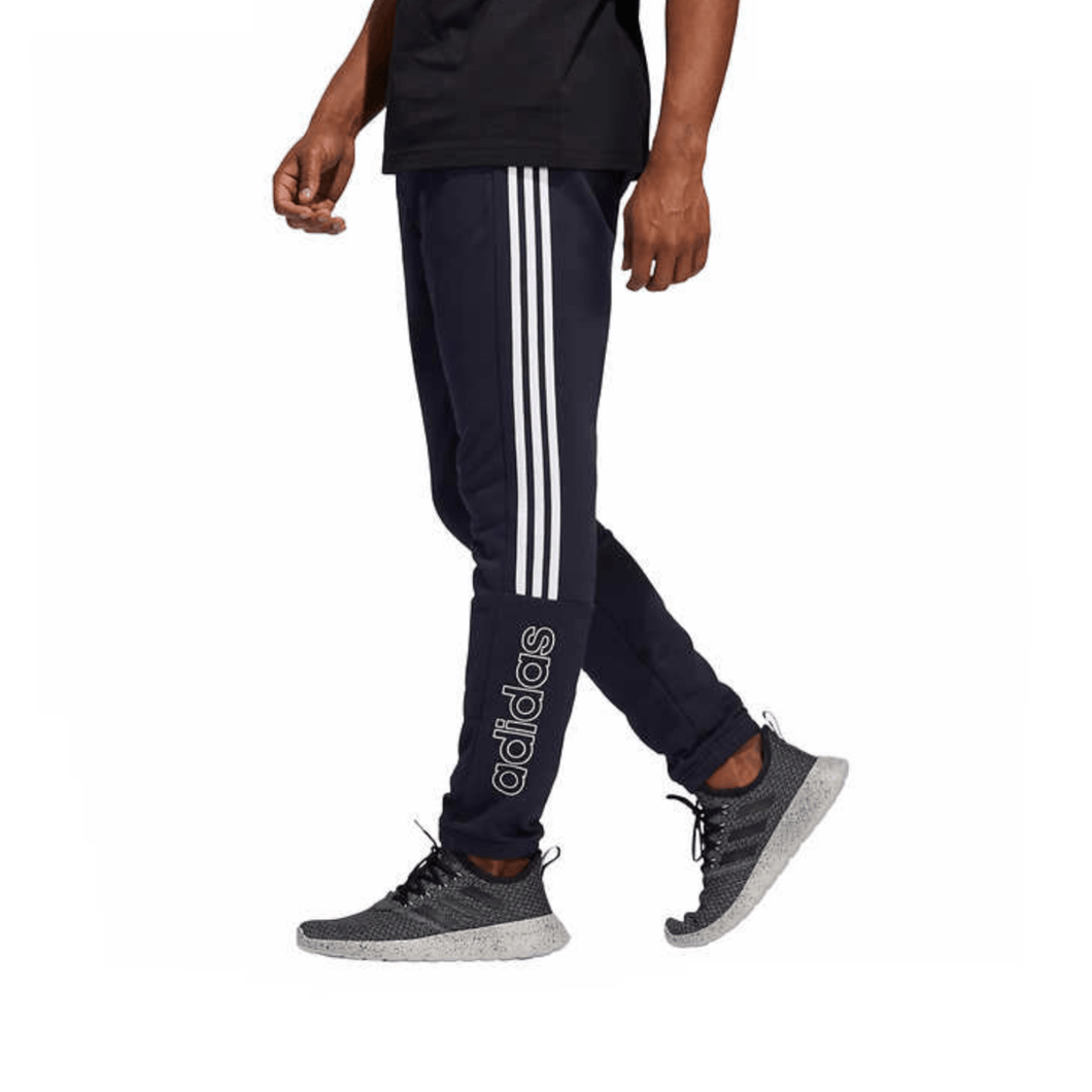 Adidas Dark Blue Men's Jogger 3-Stripes Athletic Cotton Sweatpants Adult Size Medium - Millennial Sales