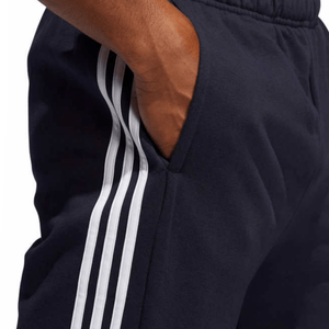 Adidas Dark Blue Men's Jogger 3-Stripes Athletic Cotton Sweatpants Adult Size Large - Millennial Sales