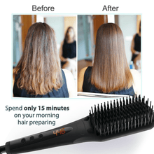 Load image into Gallery viewer, Electric Ceramic Quick Heated Hair Straightener Comb 450w Heat - Millennial Sales