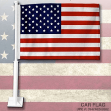 "Load image into Gallery viewer, American U.S. Car Flag 19"" inch - Rico Industries - Millennial Sales"