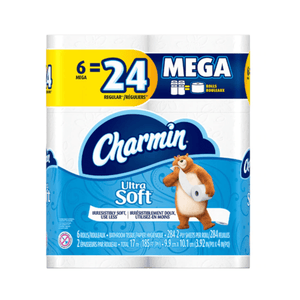 Charmin Ultra Soft Toilet Paper Thick 2-ply Sheets, 6 Pack - Millennial Sales