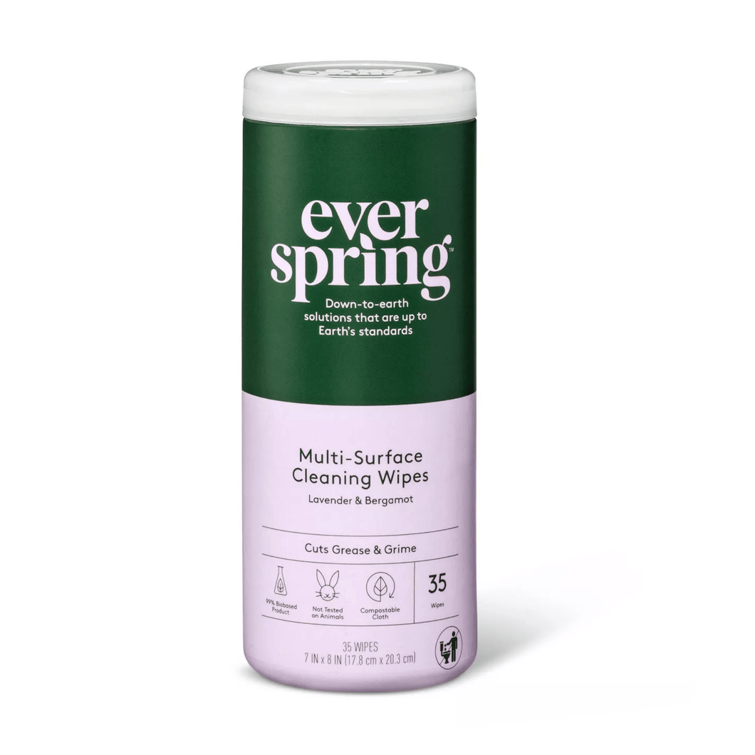 Lavender & Bergamot Multi-Surface Cleaning Wipes 35 ct - Everspring - Millennial Sales