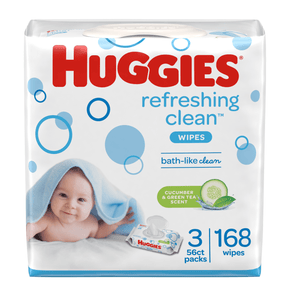 HUGGIES Baby Wipes, Disposable Pack (3-Pack, 168 Sheets), Scented, Alcohol-free, Hypoallergenic - Millennial Sales