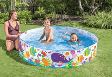 Load image into Gallery viewer, 6 ft Long 15 in. Deep Kids Portable Outdoor Kiddie Family Swimming Pool - Intex - Millennial Sales