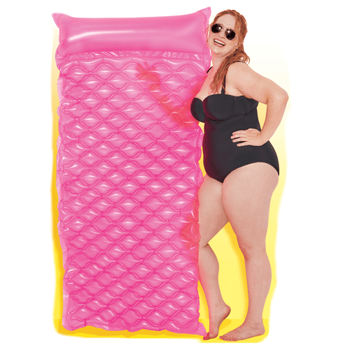 Large Pool Float Inflatable Floatable Neon Comfort Pink Floatie Mat - Play Day - Millennial Sales