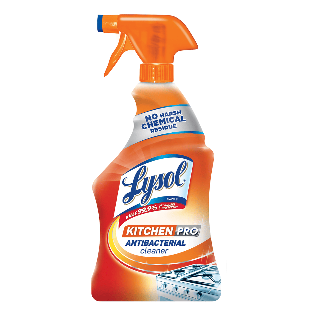Lysol Kitchen Pro Non-Toxic Disinfectant Antibacterial Cleaner Spray 22 fl oz Kills Virus Bacteria - Millennial Sales