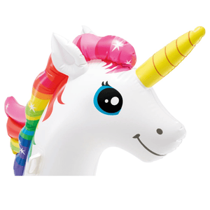 "Big Adult Size Inflatable Mega Water Float Unicorn Island Pool Floatie 113"" x 76"" x 65"" - Millennial Sales"