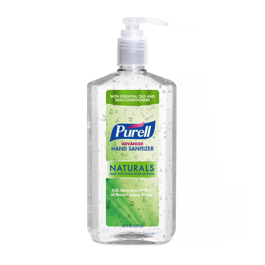 Purell Advanced hand Sanitizer Naturals 28 fl oz Refreshing Gel Pump Bottle - Millennial Sales