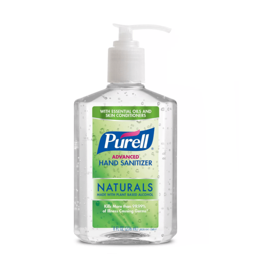 PURELL Advanced Hand Sanitizer Naturals with Plant Based Alcohol Pump Bottle - 8 fl oz - Millennial Sales