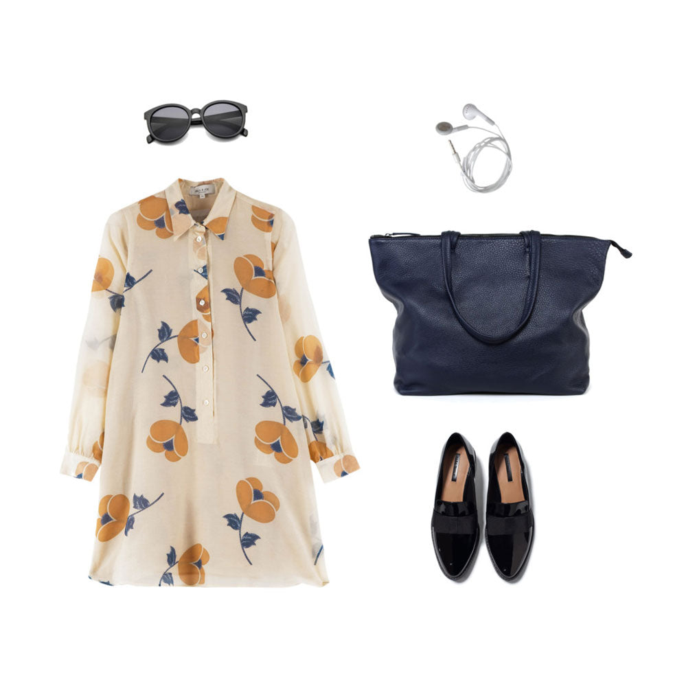 workwear with floral print