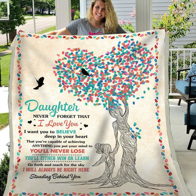 Daughter Never Forget That I Love You - Blanket - Blanket