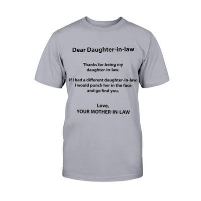 Dear Daughter-in-law. Thanks For Being My Daughter-in-law