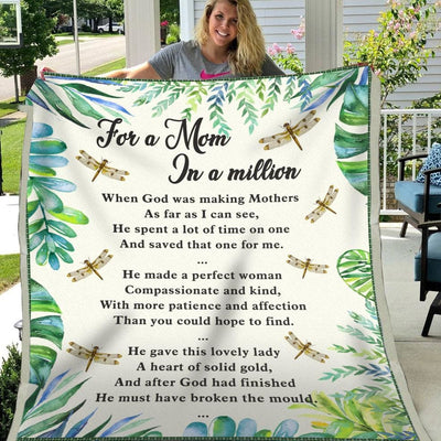 For A Mom In A Million - Blanket - Adult (60*80) - Blanket