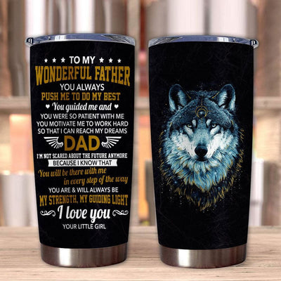 Gift For Dad Wolf Art You Are & Will Always Be My Strength &