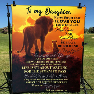Gift For Daughter Be Brave Be Bold & Be Beautiful - Blanket