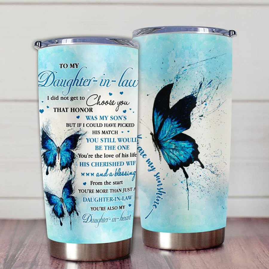 Gift For Daughter Daughter-In-Law Blue Butterfly Art If I