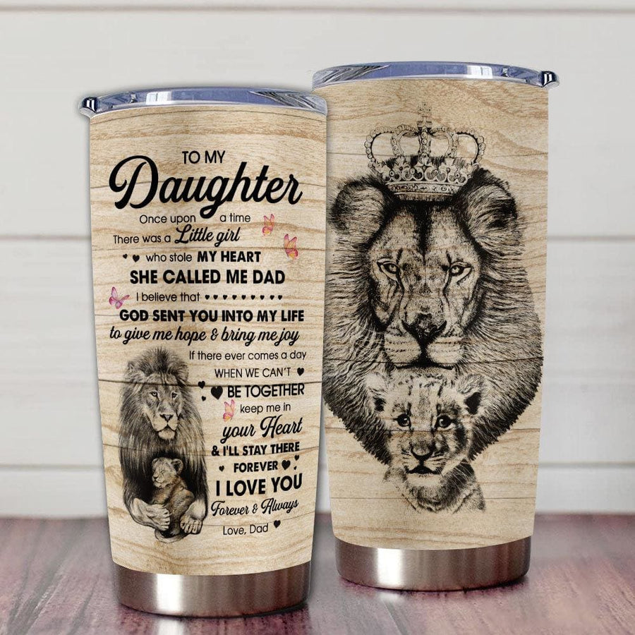 Gift For Daughter Lion Crown Keep Me In Your Heart & I'll