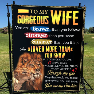 Gift For Gorgeous Wife Loved More Than You Know - Blanket -