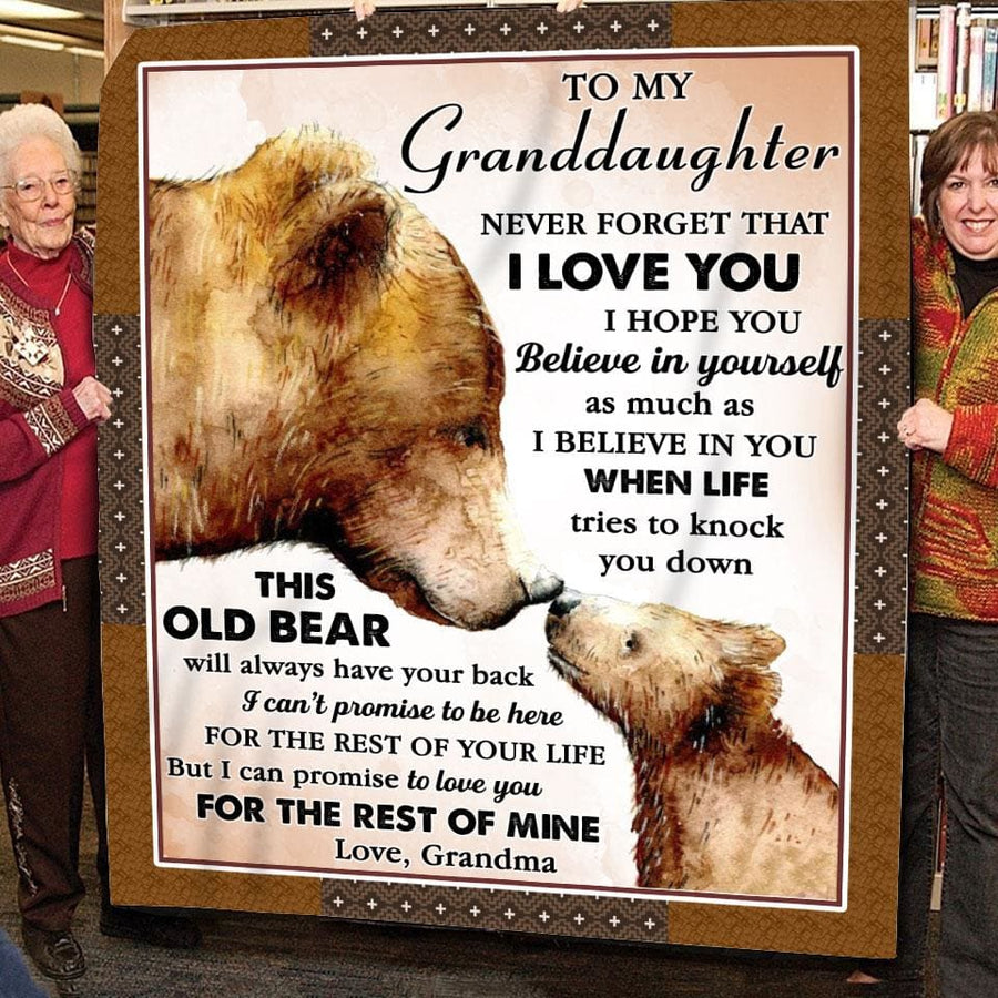 Gift For Granddaughter Bear Art When Life Tries To Knock You