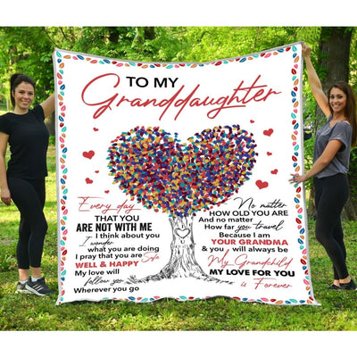 Gift For Granddaughter My Love For You Is Forever - Blanket