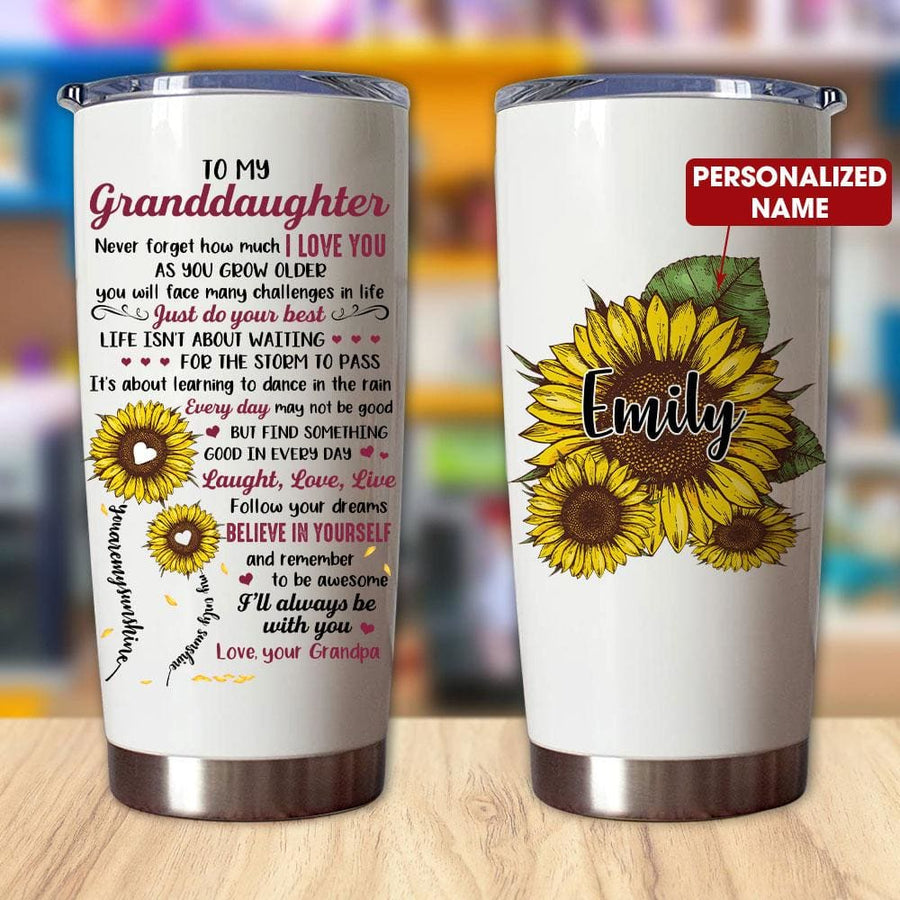 Gift For Granddaughter Sunflower Art Just Do Your Best