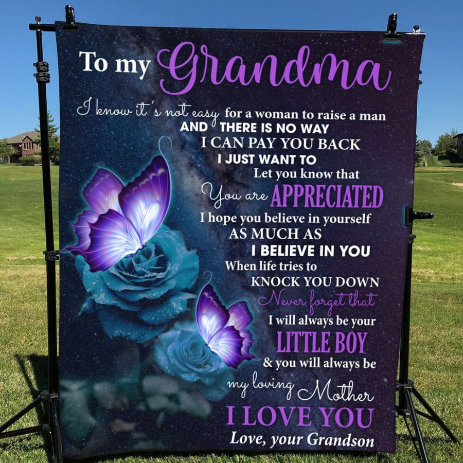 Gift For Grandma Purple Butterfly You'll Always Be My Loving