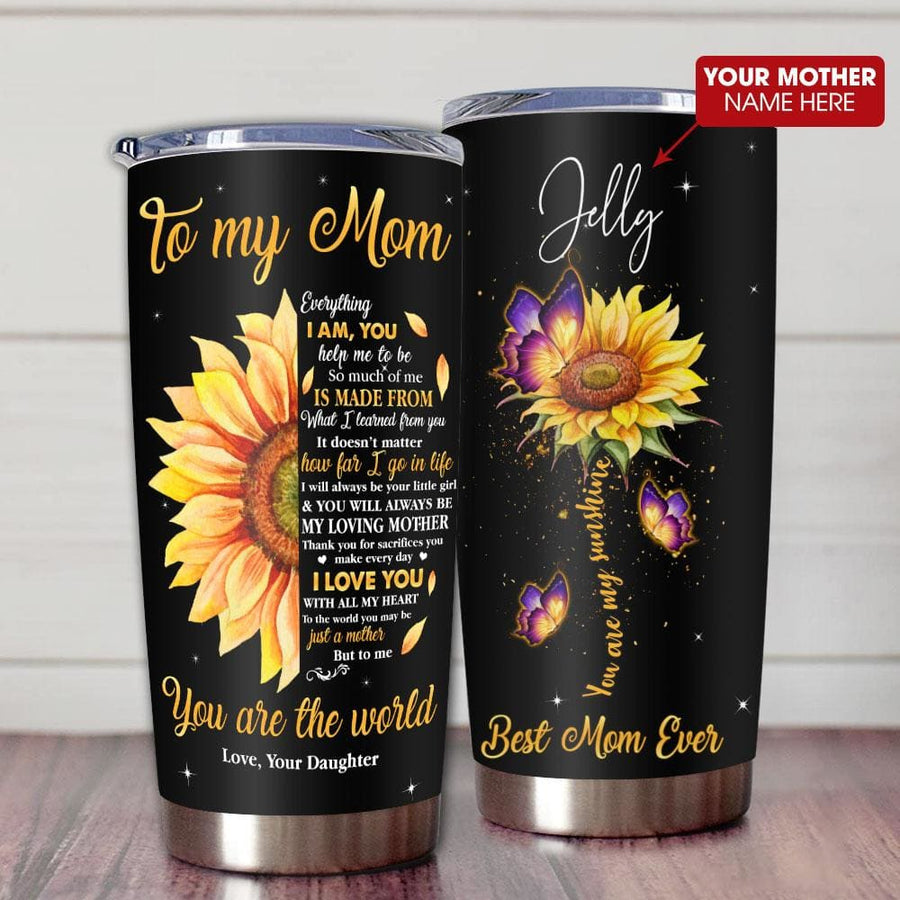 Gift For Mom Half Sunflower Art You'll Always Be My Loving