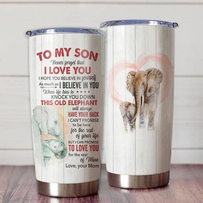 Gift For Son Elephant Art Never Forget That I Love You This
