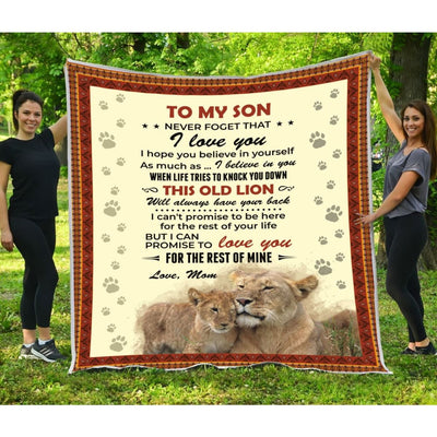 Gift For Son Love You For The Rest Of Mine - Blanket -