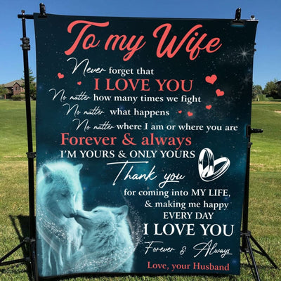 Gift For Wife Thanks For Coming Into My Life - Blanket -