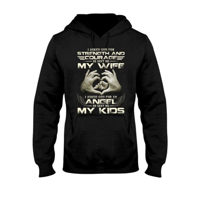 God Sent Me My Wife And My Kids Shirt Hoodie Sweater Gift
