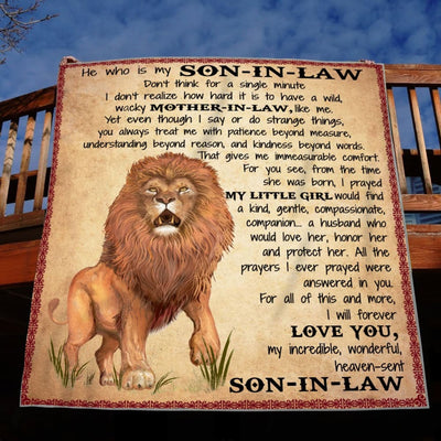 My Son-In-Law I Will Forever Love You - Blanket - Adult